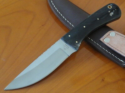 Coltello   Acciaio 4034  Inox   Manico Corno Di Buffalo   New Knife