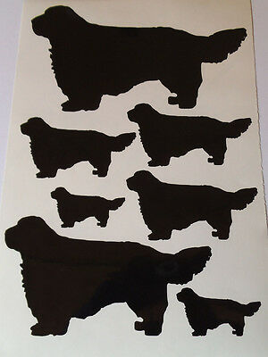 Clumber spaniel vinyl stickers/ car decals/ window decals