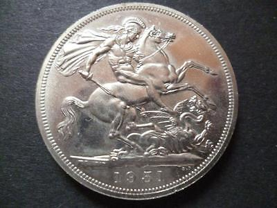 1951 Crown Coin In Fair Uncirculated Condition, Some Marks And Toning.
