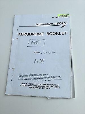 Vintage Aread Glasgow GLA Charts Book ILS Also For Flight Simulation