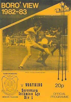 Farnborough Town V Worthing  - 82/83.