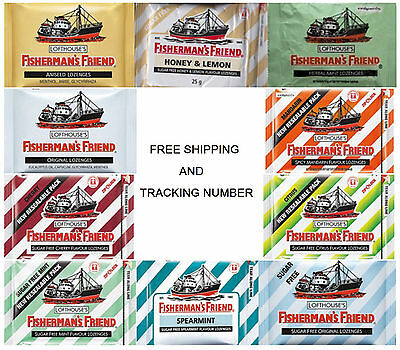 FISHERMAN'S FRIEND 10 * 25 g From Thailand and Free Shipping & Tracking Number