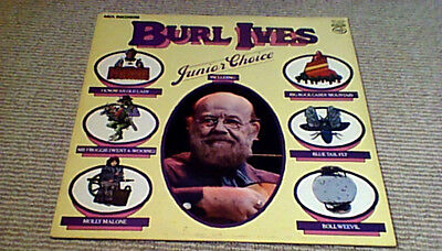 BURL IVES Junior Choice RE UK LP 1980 Classic 50's Comedy Best of Kids Songs
