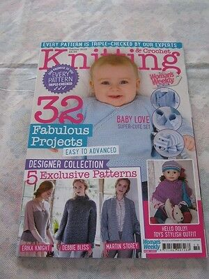 Two Woman's Weekly Knitting & Crochet magazines July & October 2016