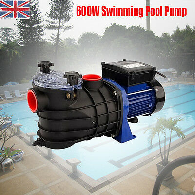 1100L/hr 600W Pump Electric Swimming Ground Pool Water Pump Strainer Filter
