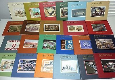 Automobile Quarterly Large Lot Collection of 23 Books Magazines HC