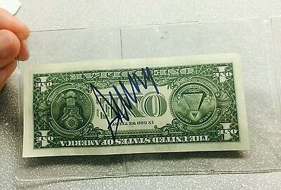 DONALD TRUMP SIGNED $1 DOLLAR BILL  ( Guaranteed To Pass Any Authentication )