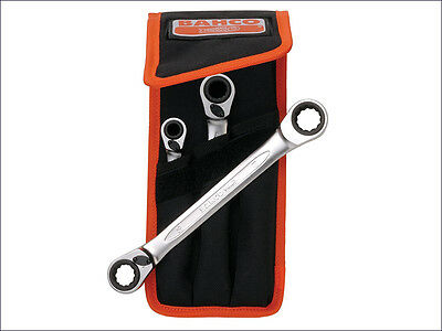 Bahco Reversible Ratchet Spanners Set 3 Piece 8 - 19mm S4RM3T