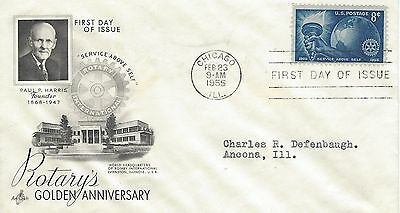 1955 Rotary International - America - 50th Anniversary 1905-1955 FDC Artcraft