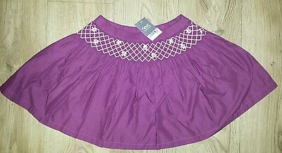 NEXT Girls skirt size 11 years NEW burgundy colour