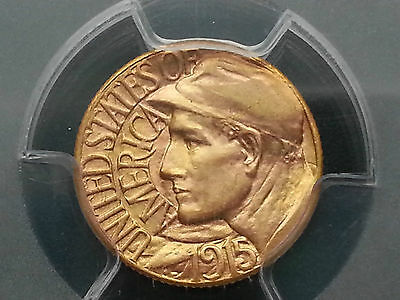 1915-S $1 Panama Pacific Commemorative Gold Dollar * * Super PQ Gold MS63