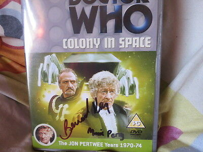 Doctor Who  Colony in Space - signed & autographed by Bernard Kay & Morris Perry