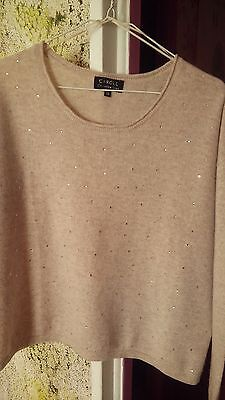 Pull beige clair cachemire luxe CAROLL Taille 38