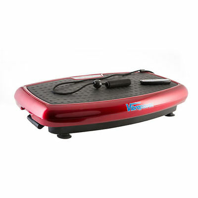 Vibrapower Slim Vibration Power Plate RED + Remote & Resistance Bands FREE DVD