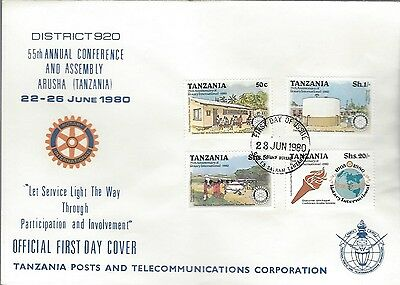 1980 Rotary International - Tanzania - 55th Annual Conference & Assembly FDC