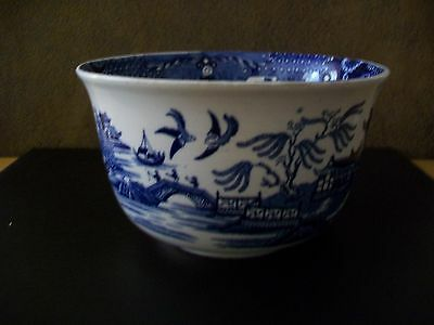 Vintage Burleigh Ware Blue And White Sugar Bowl - Willow