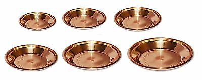 Pure Copper Pooja Thali Plate Pooja Temple Home Hotel Restaurant Tarbhana 6 size