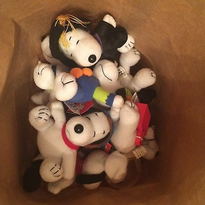 SNOOPY CAREER OCCUPATION WORK 90s 1999 MCDONALDS HAPPY MEAL TOYS BULK ASSORTS