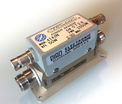 Bird 4143N 1000W & 50W directional RF power coupler similar to 1000H and 50H