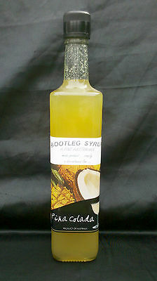Syrup PINA COLADA Real Fruit Syrup 700 ml Glass Bottle.