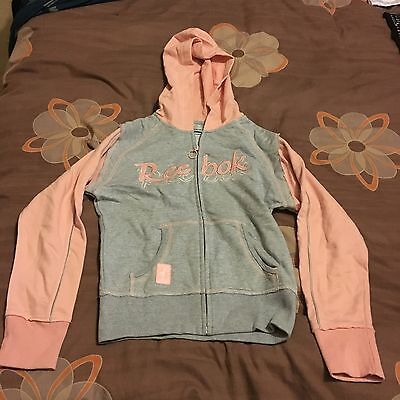 Reebok Jumper grey and pink Junior Large JL 12years