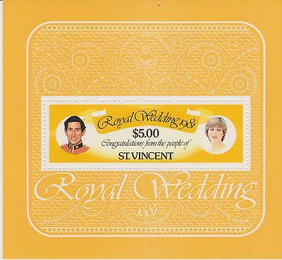 St Vincent 1981-  Royal Wedding  -   unmounted mint miniature sheet