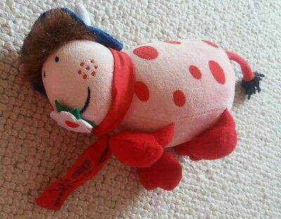 Rare the magic roundabout ermintrude pink cow soft toy ex con