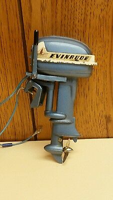 Vintage Evinrude Big Twin Electric Toy Outboard Motor Working