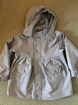 MINI A TURE girls Lilac Spot Waterproof Coat. Age 4