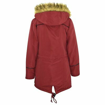 Kids Jacket DESIGNER'S Red Parka Coat Faux Fur Hooded Top Christmas Gift 3-13