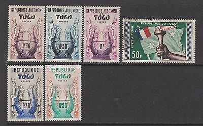 Togo  1957 - 59 -  From SG196 - 5 mounted mint 1 used