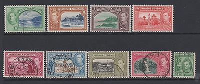 Trinidad & Tobago - 1938 from SG246 - 3 mounted mint 6 used