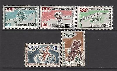 Togo  1960 - from SG244 - Olympic Games - 3 mounted mint 2 used