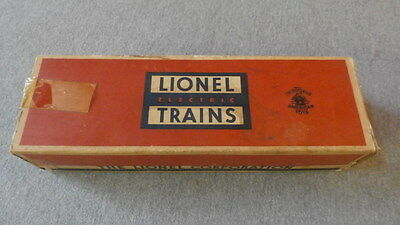 Lionel O Gauge No. 6562-25 Canister Car Empty Box ~ TS