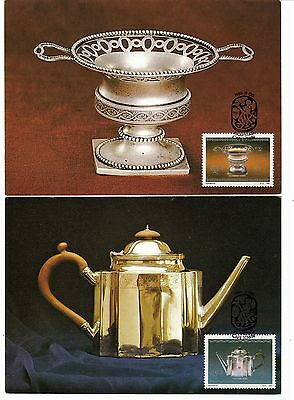 South Africa 1985 set of 4 on individual post cards - Cape Silverware