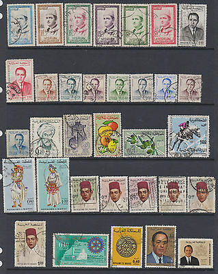 Morocco  from 1956-1973  - collection of 33 used -cat value £10.40+