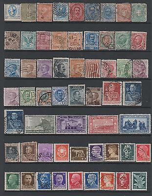 Italy from 1863  collection of 93 mint & used stamps on 2 pages- cat value £160+