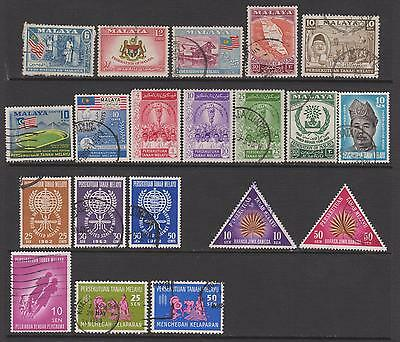 Malayan Federation 1957-1963 from SG1 - 20 mint & used - cat value £12