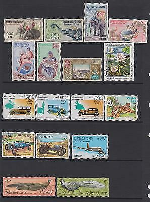 Laos -1958-1990  collection of 24 stamps  - on 2 pages