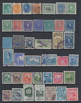 Venezuela - Collection of 77 mint & used stamps  on 3 pages