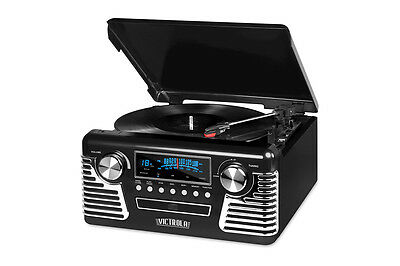 Innovative Technology Retro Stereo with Turntable & CD Player (V50-200)