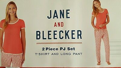Bnwt Jane And Bleecker Ladies Two Piece Pyjama Set - Size Xl