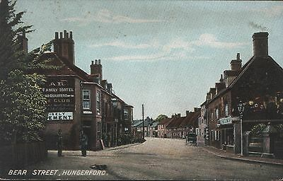 Postcard - View in Bear Street, Hungerford, Berkshire - unposted - looks early.