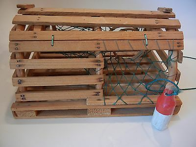 Miniature Lobster Trap, Perfect Nautical  Replica Education Fishing