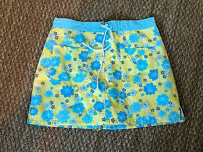 Lilly Pulitzer pretty blue and yellow girls child skort US size 8
