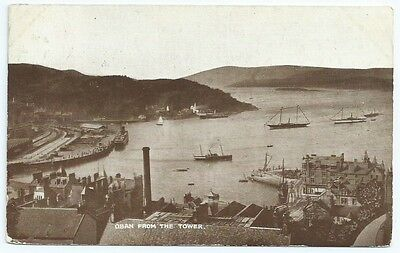 Vintage Postcard. Oban From The Tower. Used 1923 Ref:64244