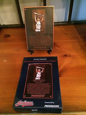 Cleveland Indians Rocky Colavito Replica Indians Hall of Fame Plaque SGA 8/10/13