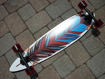 "*NEW* Landyachtz Maple Chief Feather 36"" Complete Longboard Skateboard Pintail"