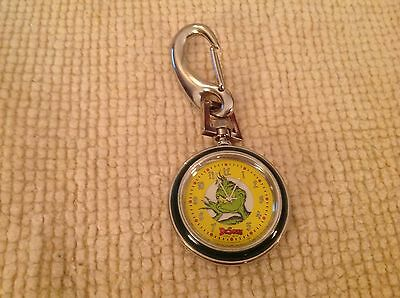 1997 Dr Seuss Grinch Tick Tocking Time Tickers Watch Clip Carabiner Stole Xmas