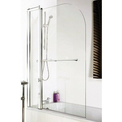 Premier 1435mm Standard Bath Screen With Rail and Fixed Panel